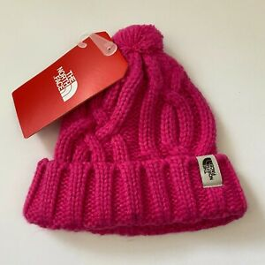 THE NORTH FACE Pink Cable Minna Beanie Baby's XXS 0-6 Months NWT