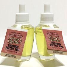 2 BATH & BODY WORKS CINNAMON PRETZEL ROLL WALLFLOWERS HOME FRAGRANCE REFILL BULB