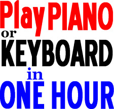 How to Play Keyboard Piano Music Book Beginners Games Teach Yourself in 1 day