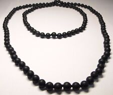 Shungite strand necklace 8mm LONG from KARELIA, Russia