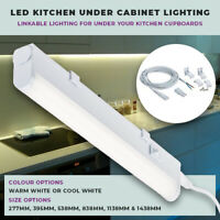 KITCHEN UNDER CUPBOARD LED LINKABLE STRIP LIGHTS WARM COOL WHITE 3000K 4000K