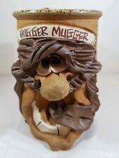 """1980s Mahon Made Stoneware """"Hugger Mugger"""" 3D Mug"""