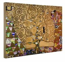 "Gustav Klimt Tree House / Tree Of Life Canvas Print Wall Art 20"" X 30"" inches UK"