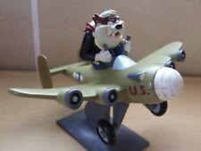 Warner Brothers Tasmanian Devil in war plane Resin Statue Figurine Ornament