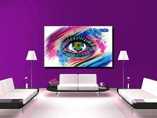LEINWAND BILD BILDER XXL POP ART AUGE GRAFFITI TATTOO DEKO ABSTRAKT BIS 150x90