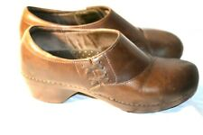 Women's Brown Leather Dansko Loafers