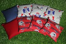 Cornhole Bean Bags Set of 8 ACA Regulation Bags NEW ENGLAND PATRIOTS Free Ship!!
