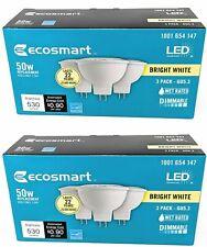 (2 Pack) EcoSmart 50W Equivalent Bright White MR16 GU5.3 Dimmable LED Light Bulb