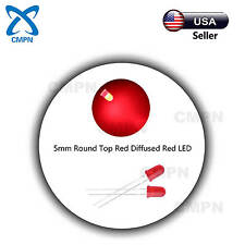 100pcs 5mm Red LED Light Emitting Diode Diffused 2Pin Round Ultra Bright Lights