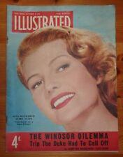 ILLUSTRATED MAGAZINE 6TH SEPT 1952 RITA HAYWORTH COVER DUKE OF WINDSOR