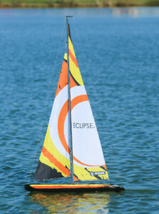 """Eclipse 1M RTR RC Sailboat (39"""" Inch Hull) (7' Foot Tall) w/ 2.4GHz radio system"""