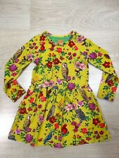 Room Seven Oilily Designer Girls Winter Owl Floral Dress Yellow Age 2-3 Size 3