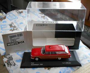 WHITEBOX =  FORD  AMBLEWAGON  1964 AMBULANZA - ED.LIM.TA  ART 206893- SCALA 1:43