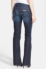 $189 Hudson Jeans Petite Signature Bootcut Flap Pockets in Elm Blue sz 25