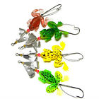 4pcs Rubber Frog Soft Fishing Lures Bass Bait Spinner Sinking 9cm 3-9/16inch