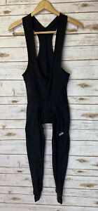 Santini SMS Thermal Cycling Long Bib Tights Stirrups Men M 44-46 Black