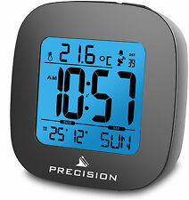 Precision Radio Controlled LCD Backlit Beep Alarm Clock Snooze AP054