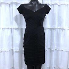 Medium Petite MP - TADASHI Black Banded Dress
