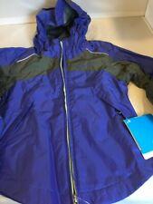 "NEW Purple ""Wet Reflect"" Rain Jacket Girls Columbia Sportswear NWT Retail $50"