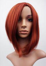 W105 Copper Red Mid Length Bob Ladies Wig Natural Look - studio7-uk
