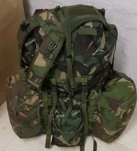 Super grade British Army PLCE Bergen DPM Long Back 2x Straps Yolk 2xside pouches