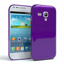 Funda protectora para Samsung Galaxy Mini s3 brushed cover móvil, funda lila