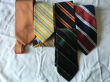 BROOKS BROTHERS 5 SILK TIES,NEW.