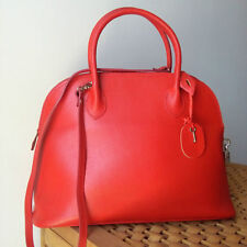 BORSA BAULETTO PELLE ROSSA MADE IN ITALY RED LEATHER BAG NEW