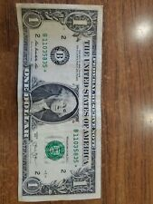 COLLECTIBLE one dollar star  note 2013