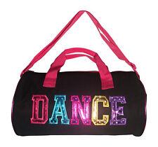 Girls Dance Duffle Bag Multicolored Dance Print Black