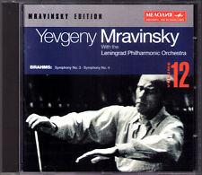 Evgeny MRAVINSKY: BRAHMS Symphony No.3 & 4 Leningrad Philharmonic CD 1972 1973