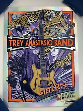 Trey Anastasio Band Poster Tyler Stout Wiltern Foil Variant Print Phish Sold out