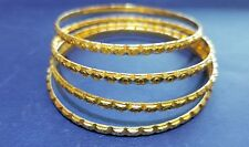 22k Gold Bangles Hand Crafted Pair with high Polish