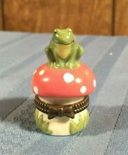 Frog On Mushrooms Porcelain Trinket Box Design By Midwest Of Cannon Falls