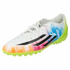 Adidas F5 TRX TF Messi F32769 Mens White/Black/Multi Football Trainers (R19B)