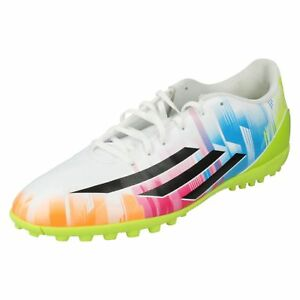 Adidas F5 TRX TF Messi F32769 Mens White/Black/Multi Football Trainers (R19B)