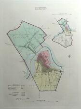 ROCHESTER, KENT, UK, Street Plan, Dawson Original antique map 1832
