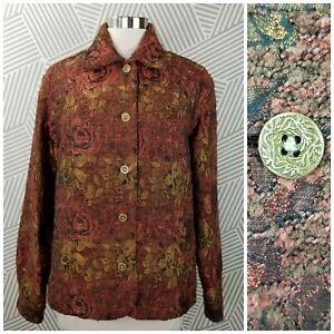 Coldwater Creek Floral Jacket Blazer Plus size 1X button up Career Professional