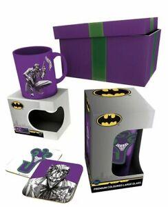 DC Comics Joker Mug Gift Box mug Glass and 2 Coasters GFB0072