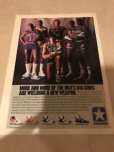 Vtg 1987 CONVERSE WEAPONS LARRY BIRD MAGIC JOHNSON ISIAH THOMAS Poster Print Ad