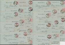 Nieder Österreich STEIN 23 Karten Brief Josefstadt  Wien korrespondenz 1891 (982