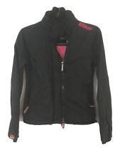 Superdry Windcheater Womens Black Nylon Jacket M(D295)