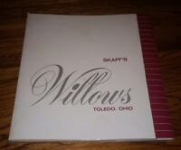 Skaff's WILLOWS RESTAURANT Toledo Ohio  DINNER MENU closed FRANKLIN PARK MALL