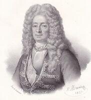 Portrait XIXe Victor Marie d'Estrées Marine Royale Nouvelle France Québec 1835