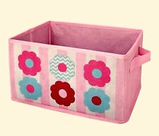 Little Bedding by NoJo Tickled Pink Collapsible Storage Bin 12.5 x 6.5 x 8.5 in