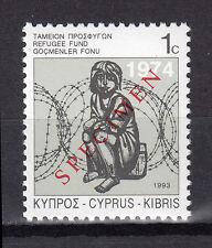 CYPRUS 1993 SPECIAL REFUGEE FUND STAMP SPECIMEN MNH