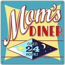 Vintage Retro Moms Diner Metal Sign Unique Restaurant Cafe Kitchen Decor RPC133