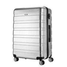 "24"" Silver  Hard Shell 4 Wheel Suitcase PC Luggage Trolley Medium Case Hand Bag"