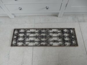 ANTIQUE WROUGHT IRON LARGE DOOR GRILL  OR USE AS RADIATOR GRILL UPCYCLE THIS  !