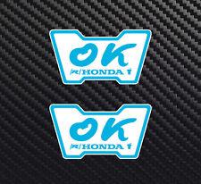 (2) 3 inch OK Honda decal sticker  Window Sticker Civic 1980s JDM 1970s si